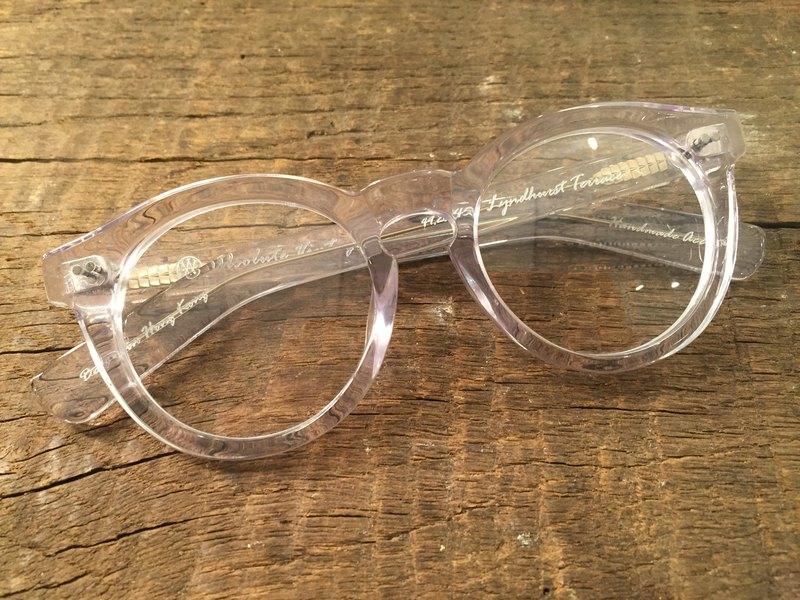Absolute Vintage - Lyndhurst (Lyndhurst Terrace) circular thick-framed glasses, plates - Crystal clear