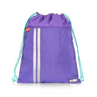 Tiger Family Drawstring Pocket - Lavender Violet