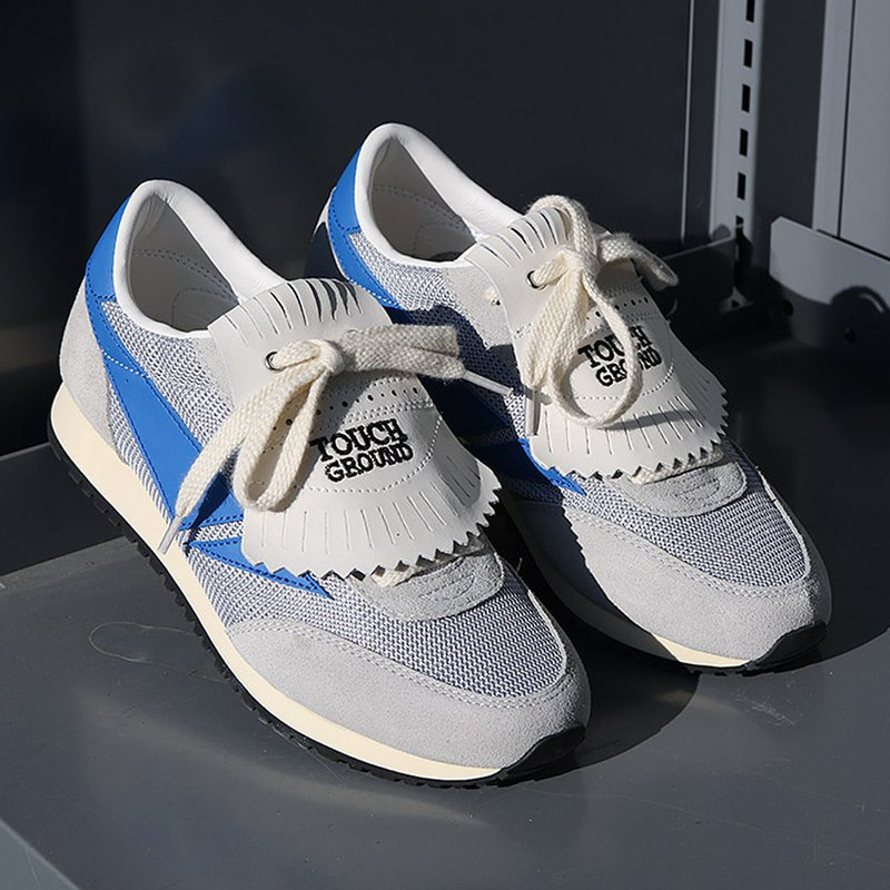 TOUCH GROUND 韓國復古運動鞋 Vintage Running OG GRAY BLUE