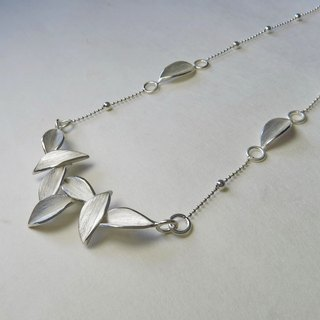 Nature-Foliage-Silver Necklace/ handmade,gorgeous style,symmetric