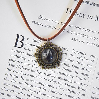 The Black Stone Blade Handmade Necklace