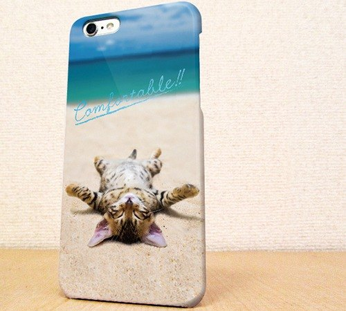 Free Shipping ☆ iPhone case GALAXY case ☆ cat to the basking in the sun on the shore phone case