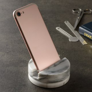 Marble mobile phone rotating base / business card holder