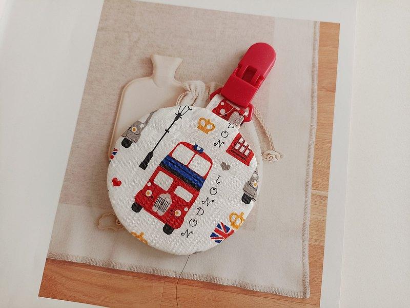 雙層巴士 圓型平安符袋 彌月禮物 平安符袋 香火袋