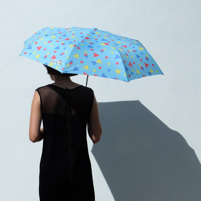 [Taiwan Wenchuang Rain's talk] colorful triangle tri-fold automatic opening umbrella