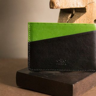 Alto Light Business Card Holder - Lime Green/Raven Black (can be purchased with custom text Lei carving)