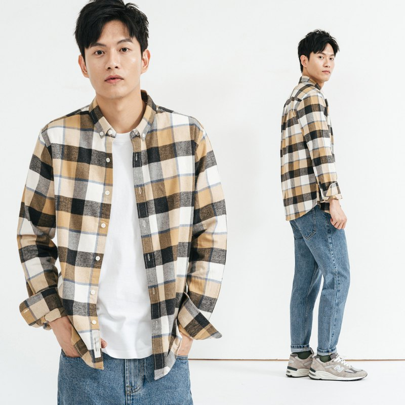 JERSCY Flannel Plaid Long Sleeve Shirt