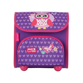 Tiger Family Nursery Schoolbag - Purple Owl + [Gift] Boxed 2B Large Triangle Pencil (6 Pack)