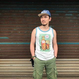 2017 retro vest / cool ㄟ - limited edition in summer (light hemp gray rolled green side)