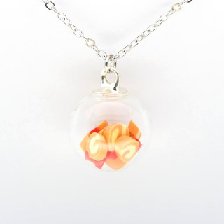 「OMYWAY」Handmade Candy Necklace - Glass Globe Necklace 1.4cm