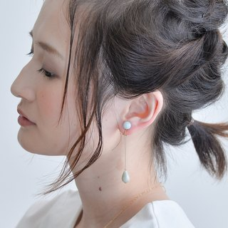 FLOW Earring BLUE Amazonite(CLIP TYPE)