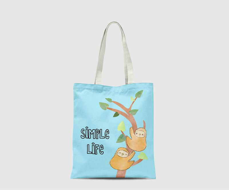Sloth climb tree Pattern Tote Bag