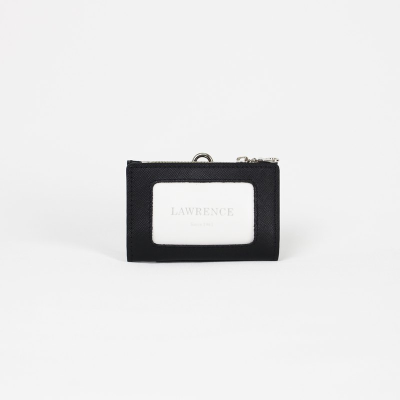 Cross-embossed cross-embossed document holder with horizontal leather document holder