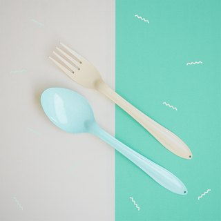 Green Mint Spoon+Yellow Fork : Switch🍭 Sweet Collection