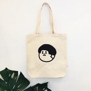 M-type shoulder / hand canvas bag - Jie Tai side large head
