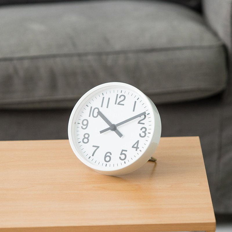 LOVEL 16cm modern retro aluminum frame mute clock - a total of 3 models