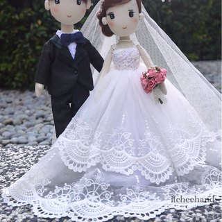 Customized  Wedding Couple (Ballgown Dress)