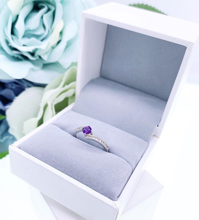 [Ring Series] Natural Amethyst 925 Sterling Silver Ring