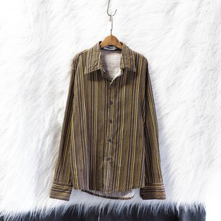 Elm café yellow simple fallen straight light day and antique cotton shirt jacket coat vintage
