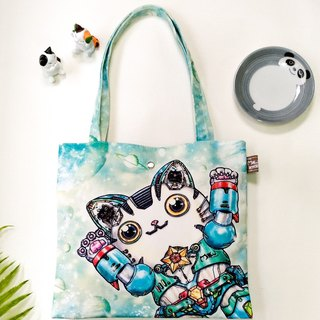 Good light small bag / shopping bag / lunch bag ● robot cat
