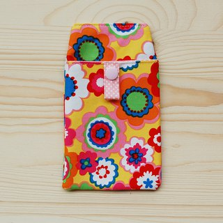 Painted flower pocket pencil bag