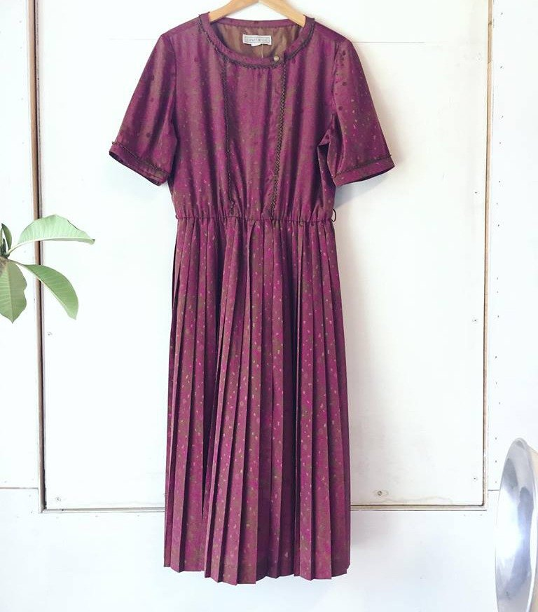 Ancient cave business │ VINTAGE DRESS │ jacquard pink summer │ ancient dress