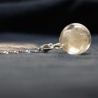 Summer Ice Crystal White Hydrangea Crystal Ball Clavicle Necklace
