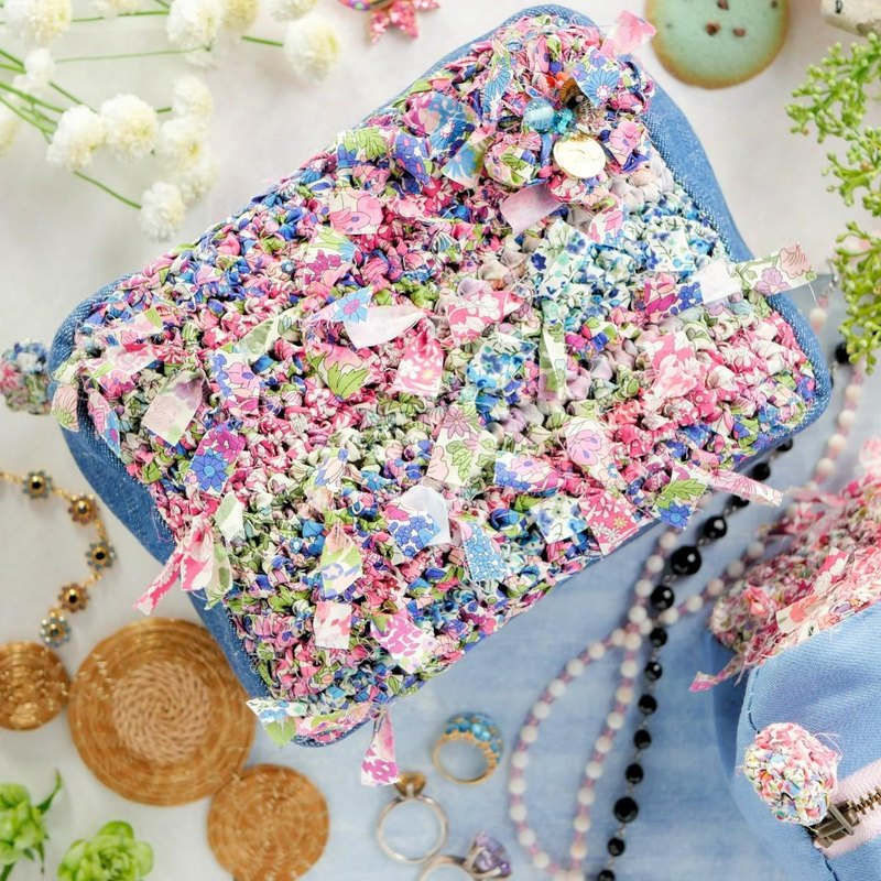 My exclusive Liberty blooming pouch x cube || Blue