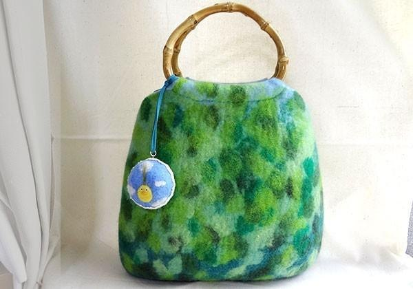 Fresh green forest felt bag CS0125
