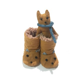 Booties of the babygift cat     Orange camel