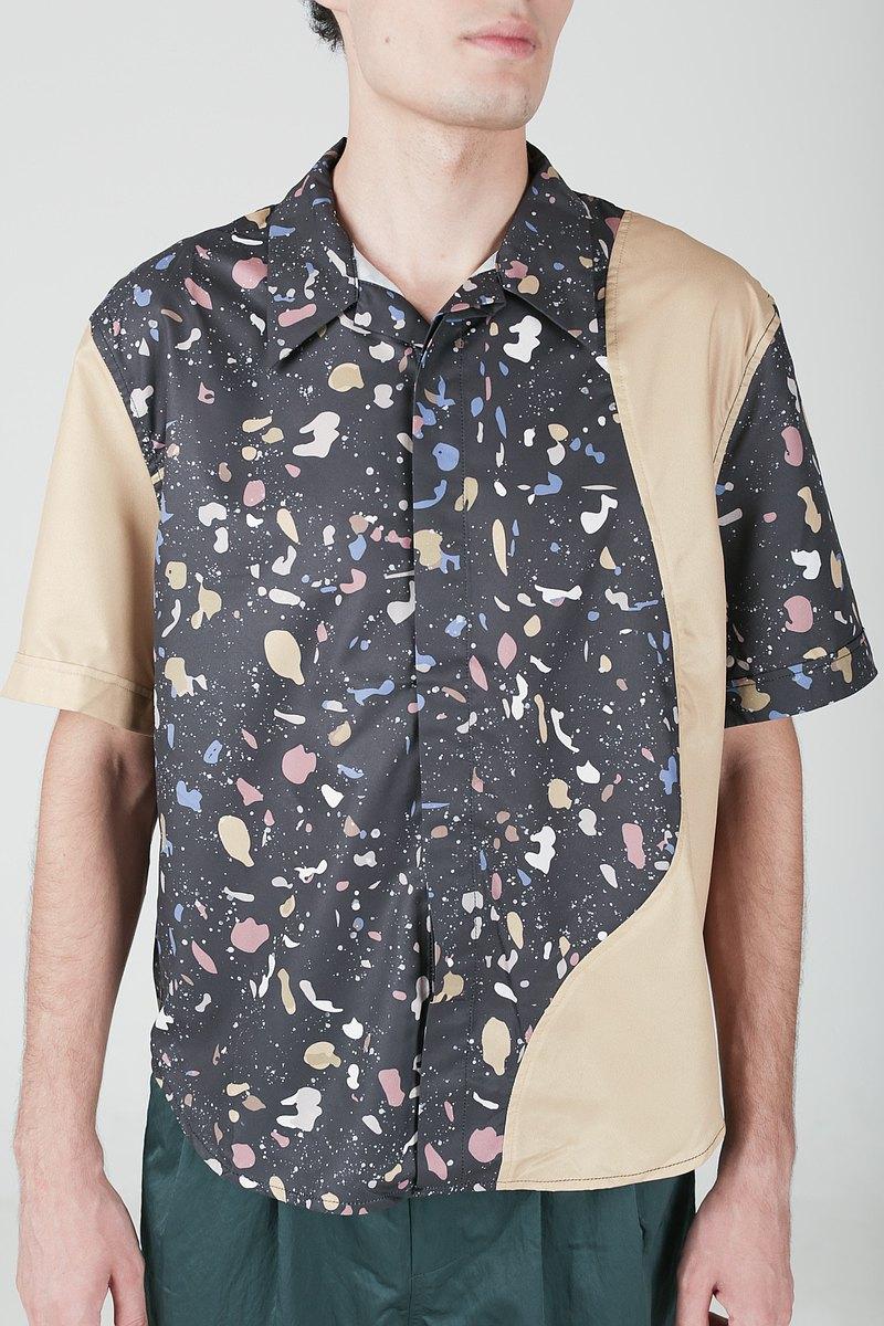 nowherelse - 印花短袖襯衫