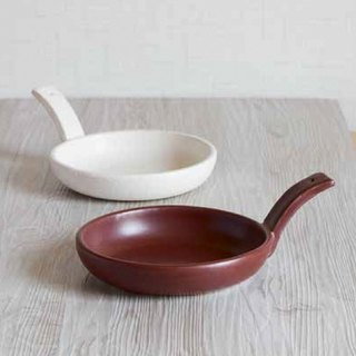 Japanese pottery pottery delectable heat-resistant single-handle fry pan
