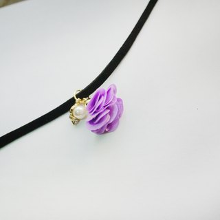 Romantic flower color tassel necklace. With diamond pearl paragraph [] Panna Cotta