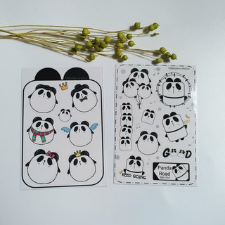 [Cute panda sticker] waterproof stickers / 2 into