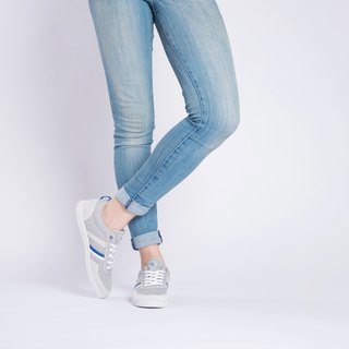 OPALE Stone    MEL GREY/ELEC BLUE   ULTRASUEDE and Eco-friendly shoes for WOMEN