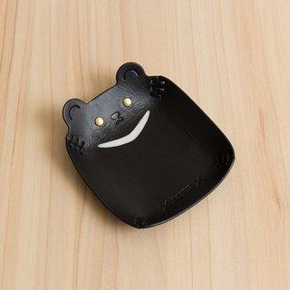 Animal Series - Hand-painted leather small cap / jewelry storage / (small - Taiwan Species - Taiwan black bear)
