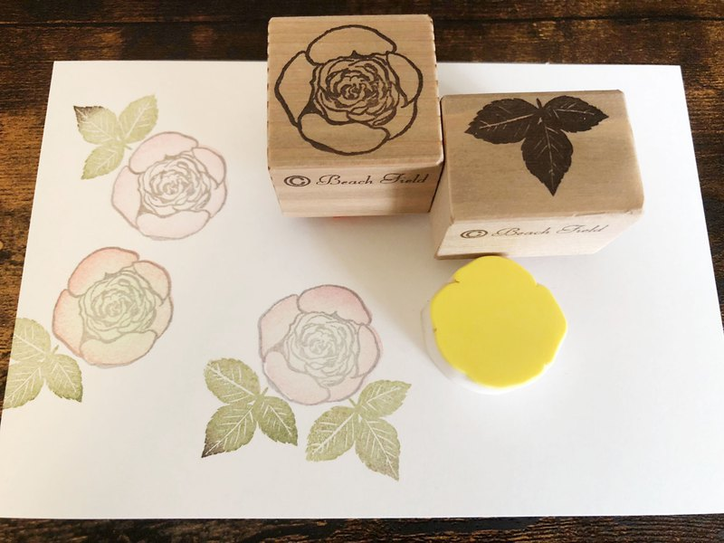Old rose stamp set and multicolor pusher