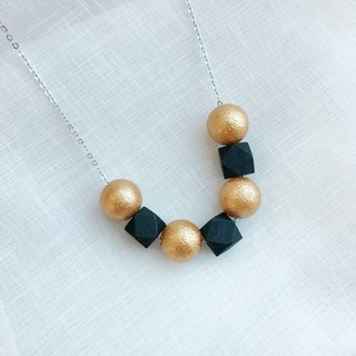 Green Black wooden Ball Beans Necklace Birthday Gift Wedding BFF
