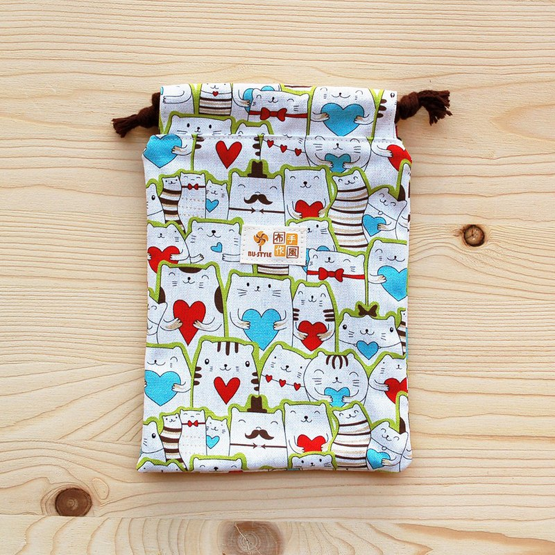 Love Cat Drawstring Pocket (Middle)