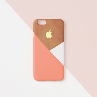 iPhone case - Peach layered wood pattern for iPhones