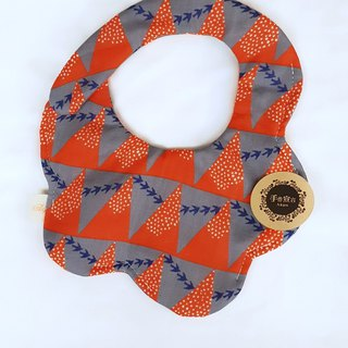 Gujia Yuezi designer cloth - gray orange - eight layers of yarn 100% cotton casual arc shape bibs saliva towel