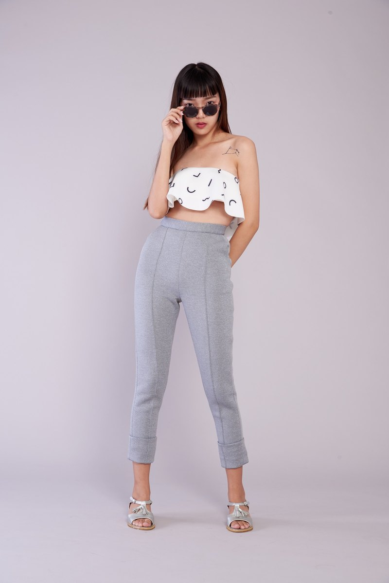( SIZE S ) Neoprene Fabric Trousers
