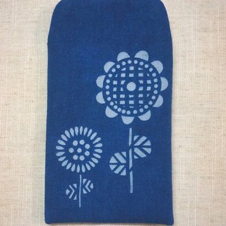 Blue dye blue sunflower phone sets