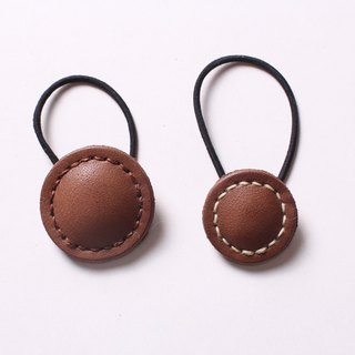 Big macaron leather hair band tress leather bracelet