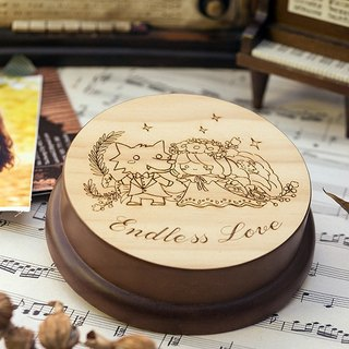 [Memorial gift, Christmas gift] Love has no end / Customized music box Memo folder