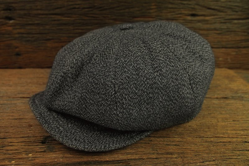 【METALIZE】Unique Texture NewsBoy Cap TYPE-2 復古雪花布報童帽 TYPE-2