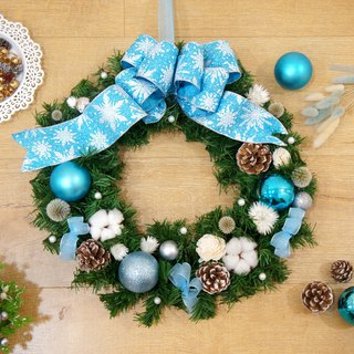 Hand made ice romance wind Christmas wreath (42 cm large wreath Christmas arrangement)