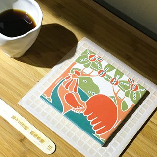 Taiwan Majolica Tiles Coaster【The Rooster】