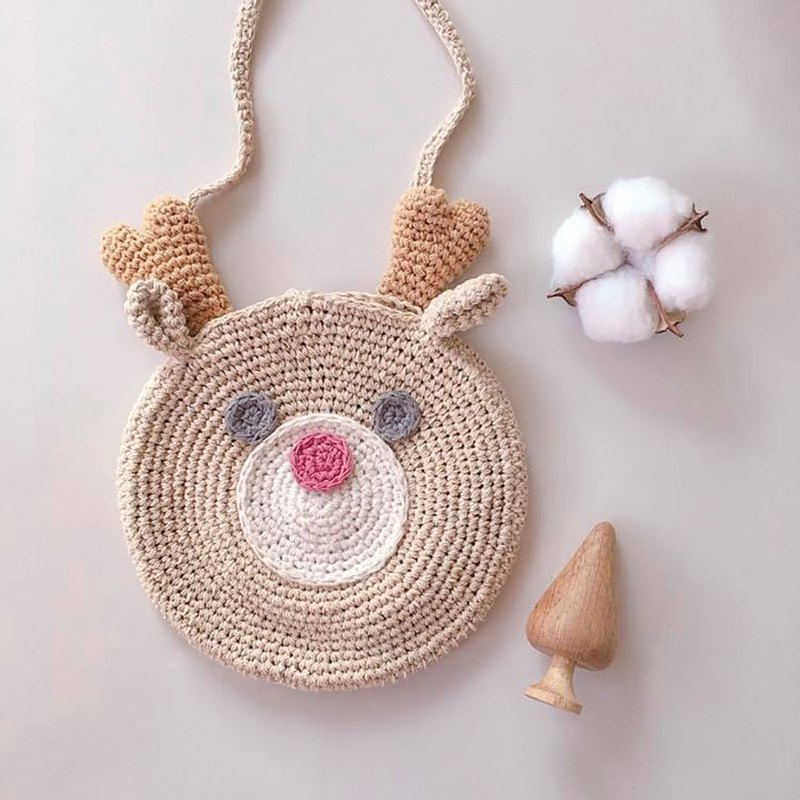 Lovely Deer  Bag made of natural dyed cotton 100%