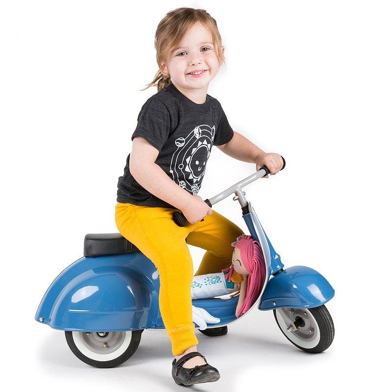 PRIMO 經典偉士牌造型滑步車_經典版 (復古藍)
